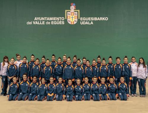 equipo deportivo del club ritmica alaia